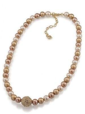 Carolee Faux Pearl Single Strand Necklace