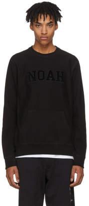 Noah NYC Black Logo Core Crew Sweatshirt