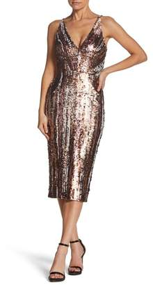 Dress the Population Margo Plunge Neck Sequin Dress