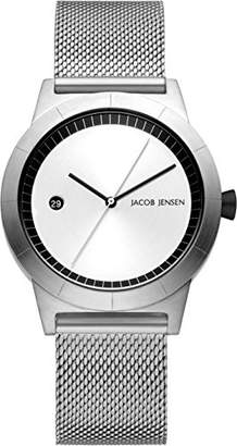 904e2930c40 Jacob Jensen Womens Analogue Classic Quartz Watch with Stainless Steel Strap  JJ152