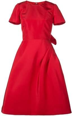 Oscar de la Renta Scarlet short sleeved dress