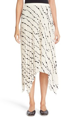 Women's Helmut Lang Print Pleated Silk Skirt $520 thestylecure.com