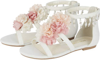Monsoon Pastel Pom Pom Flower Sandals