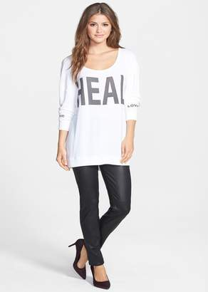 7 For All Mankind Jen7 by Faux Leather Ponte Skinny Jeans