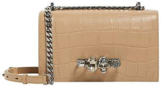Alexander McQueen Leather Jewelled Satchel
