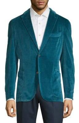 Boglioli Notch Lapel Velvet Jacket