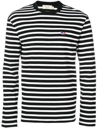 MAISON KITSUNÉ striped longsleeved T-shirt