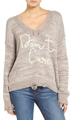Women's Wildfox Don'T Care Sweater $171 thestylecure.com
