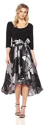 R & M Richards R&M Richards Women's 1pc Print Poly Duchess Twill Hi/Lo Dress