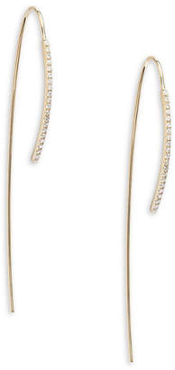 Ef Collection 14K Bar Wire Threader Earrings