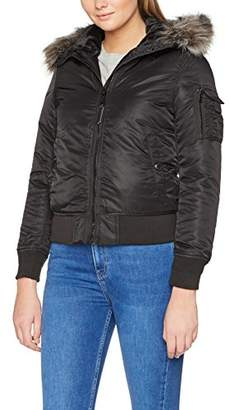 Schott NYC Women's JKTPEARLWX Jacket, (Black), Large