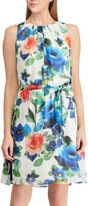 Chaps Petite Floral A-Line Dress