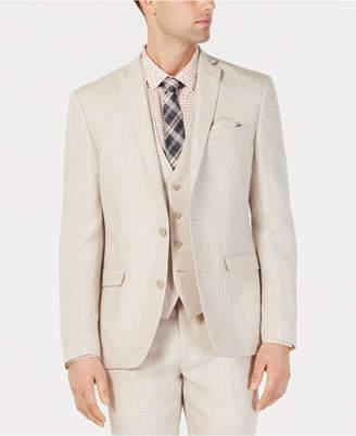 Bar III Men Slim-Fit Linen Tan Suit Jacket