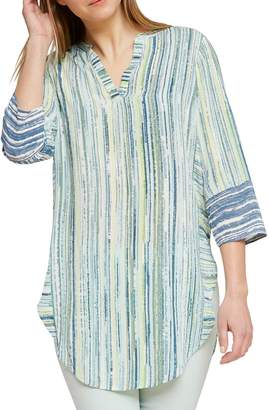 Nic+Zoe Striped High-Low Tunic