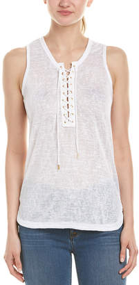 Macbeth Collection Lace Up Tank Top