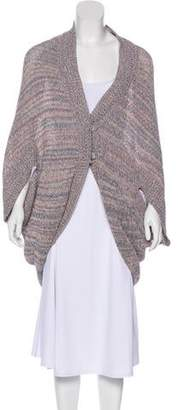 Halston Linen-Blend Semi-Sheer Cardigan