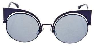 Fendi Mirrored Cat-Eye Sunglasses