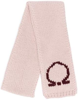 Salvatore Ferragamo Gancio knit scarf