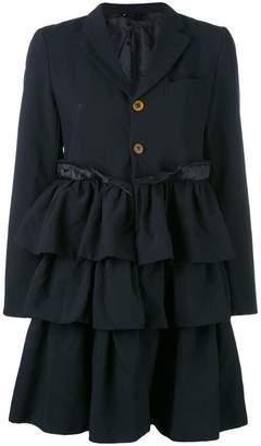 Comme des Garcons ruffled skirt coat