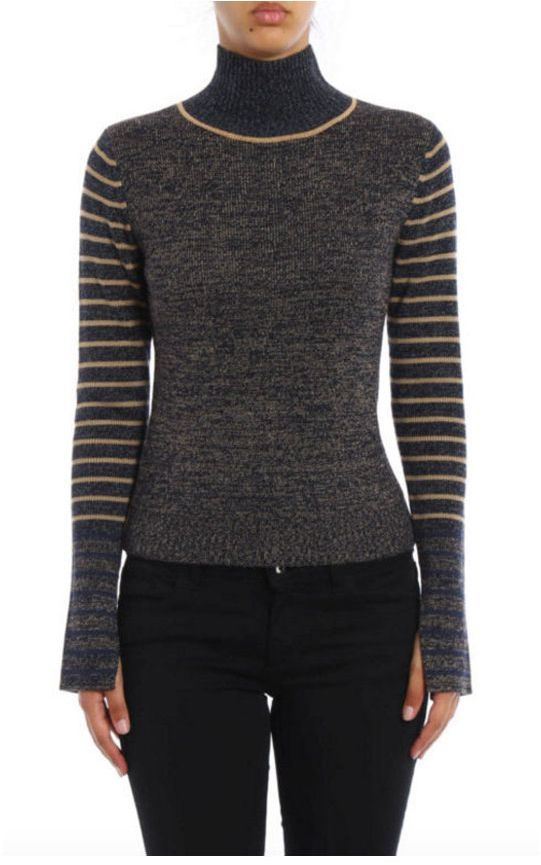 See By ChloeSee By Chloé Turtleneck Woolen Striped