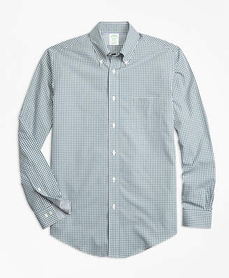 Brooks Brothers Non-Iron Milano Fit Mini-Gingham Sport Shirt