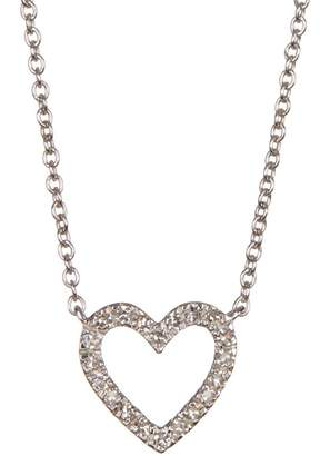 Carriere Open Heart Diamond Pendant Necklace - 0.10 ctw