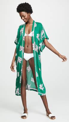 Plush Maxi Floral Kimono