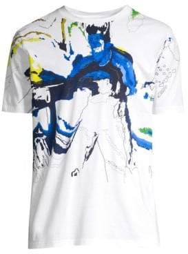 HUGO Abstract Print Cotton Tee