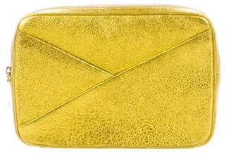 A.L.C. Metallic Grained Leather Clutch