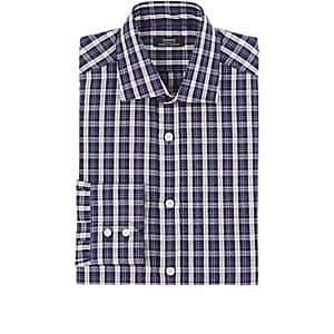 Fairfax MEN'S PLAID SLUB-WEAVE COTTON-LINEN DRESS SHIRT