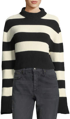 Tre By Natalie Ratabesi Striped Chunky Knit Sweater