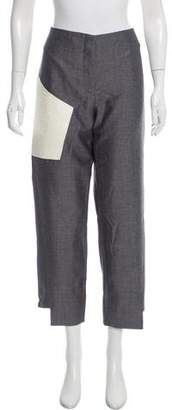 Acne Studios Leather-Panel High-Rise Pants w/ Tags
