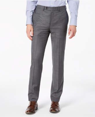 Calvin Klein Men's Slim-Fit Stretch Gray Sharkskin Suit Pants