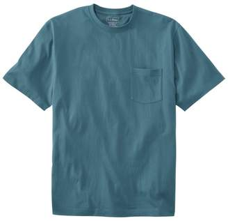 L.L. Bean L.L.Bean Men's Carefree Unshrinkable Tee with Pocket, Traditional Fit Short-Sleeve