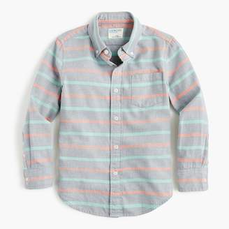 J.Crew Boys' flannel shirt in stripes