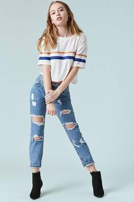 Forever 21 Destroyed Boyfriend Jeans