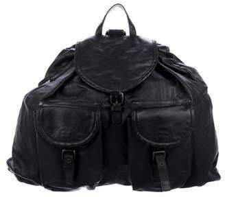 d89e4314f31a Bottega Veneta Intrecciato-Trimmed Leather Backpack