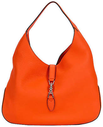 One Kings Lane Vintage Gucci Jackie Vibrant Orange Hobo Bag - Vintage Lux