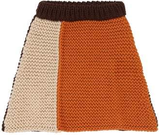 Tricot Wool Knit Skirt