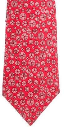 Hermes Geometric Print Silk Tie