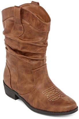 Arizona Girls Paisley Slouch Boots Stacked Heel Zip