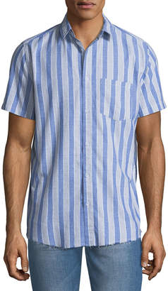 Sovereign Code Men's Striped Short-Sleeve Sport Shirt