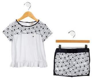Armani Junior Girls' Embroidered Skirt Set w/ Tags