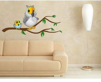 Mural Style and Apply Grandpa Owl II Wall Decal - wall print decal, sticker, vinyl art home decor - DS 862 - 28in x 15in