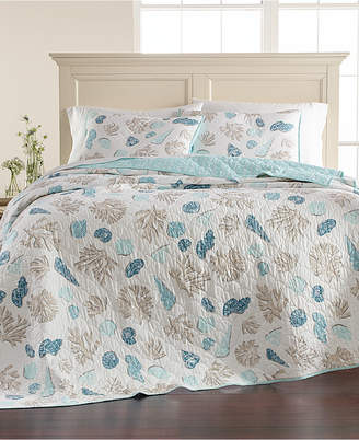 Martha Stewart Collection Beach Finds Reversible 100% Cotton King Quilt, Created for Macy's