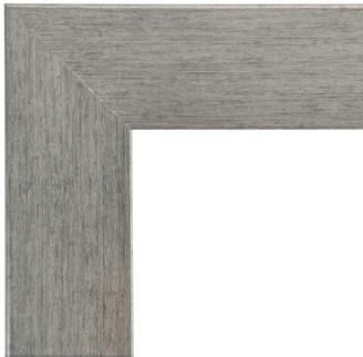 Wade Logan Rectangle Silver Framed Wall Mirror