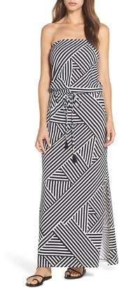 Tommy Bahama Fractured Stripe Bandeau Cover-Up Maxi Dress