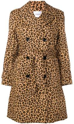Dondup leopard-print trench coat