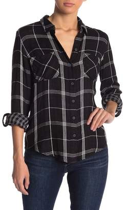 Lucky Brand Boyfriend Duofold Plaid Button Down Shirt