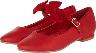 Monsoon Dorothy Bow Strap Mini Heel Shoes